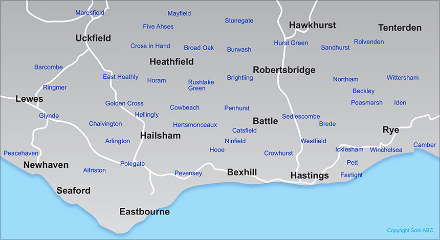 east-sussex-map